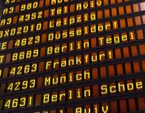 Airport flight board Stock Image