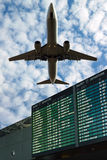 Airport flight information Royalty Free Stock Photos