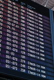 Airport flight information Stock Images