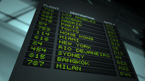 Airport Flight Information Board Stock Photography