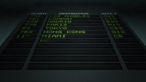Airport Flight Information Board stock video