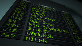 Airport Flight Information Board stock video footage