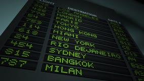 Airport Flight Information Board stock video footage