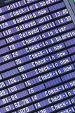 Airport flight information Stock Image