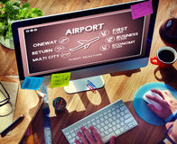Airport Flight Ticket Selection Transportation Concept Royalty Free Stock Photo