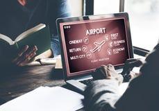 Airport Flight Ticket Selection Transportation Concept. Airport Flight Ticket Selection Transportation Royalty Free Stock Photo