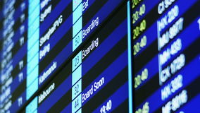 Airport Flight Timetable Information Board. stock footage