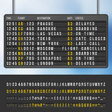 Airport flip arrivals information scoreboard vector mockup. Display with information flight and destination, illustration of info scoreboard Royalty Free Stock Image