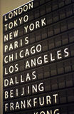 Airport flip board Royalty Free Stock Photo