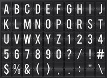 Airport Flipboard Alphabet. Airport flip chart display. Full alphabet Royalty Free Stock Images