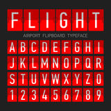 Airport flipboard flat style font Stock Photography