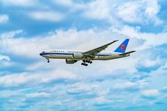 AIRPORT FRANKFURT,GERMANY: Boeing 777F China Southern Cargo is t Stock Photos