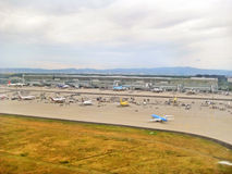 Airport Frankfurt / Main, Germany - terminal with runway Stock Photos