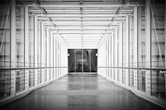 Airport gangway Stock Image