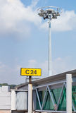 Airport gangway and security camera Royalty Free Stock Photography