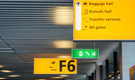 Airport gate sign Royalty Free Stock Images