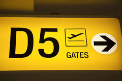 Airport Gates Royalty Free Stock Images