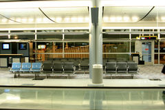 Airport gates - boarding area Stock Image