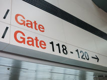 Airport gates Stock Image