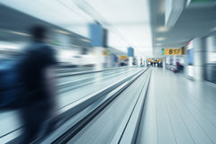 Airport gates scenery motion blur. An image of an airport gates scenery motion blur Royalty Free Stock Photo