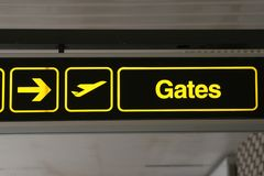 Airport gates to the right Stock Photography