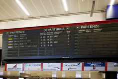 Airport of Genoa, flights cancelled Royalty Free Stock Photos