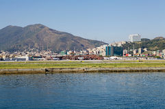 The airport of Genoa, Italy Royalty Free Stock Images