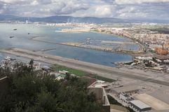 Airport in Gibraltar Stock Photography