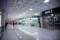 Airport, GIMPO gate №2 , South Korea Stock Photo