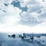 Airport ground operation Royalty Free Stock Images