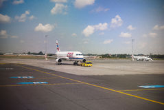 Airport Ground.Pushback Royalty Free Stock Images