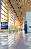 Airport hall. View of a modern airport hall Royalty Free Stock Image