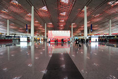 Airport hall stock image