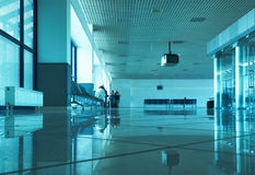 Airport hall. Modern airport hall in european style Stock Photo