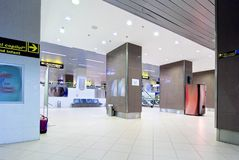 Airport Hall. Interiors of an empty airport hall Royalty Free Stock Image