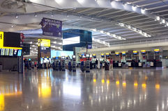 Airport hall early in the morning Royalty Free Stock Photo
