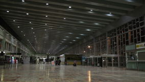 Airport hall. stock footage