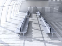 Airport Hallway. 3D rendered Illustration. Airport Hallway Stock Photography