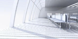 Airport Hallway. 3D rendered Illustration. Airport Hallway Stock Image