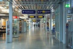 Airport hallway Stock Photo