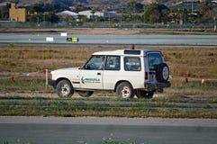 Airport Hawk Bird Control Vehicle Stock Image