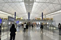 The airport at hongkong Stock Image