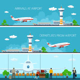 Airport Horizontal Banners Stock Photo