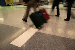 Airport hurry Royalty Free Stock Image