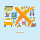 Airport icon flat Royalty Free Stock Photo