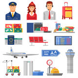 Airport Icon Set Royalty Free Stock Image