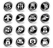 airport icon set Stock Images