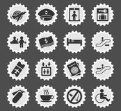 Airport icon set Royalty Free Stock Photography