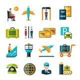 Airport Icon Set Stock Photo