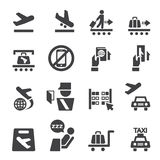 Airport icon set Royalty Free Stock Images